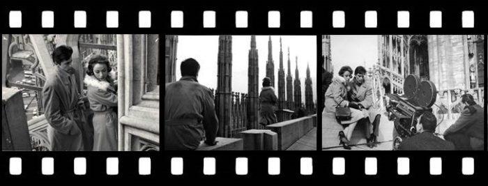 Pellicola del film Rocco e i suoi fratelli al Duomo di Milano