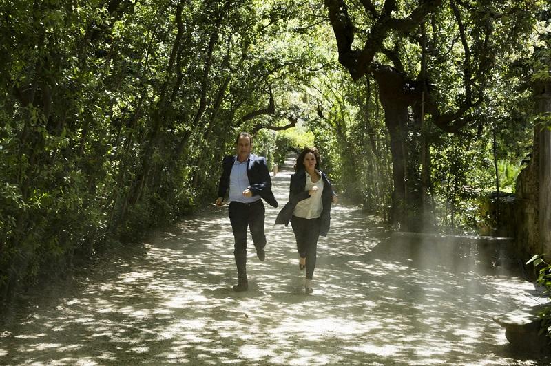 Langdon e Sienna nei Giardini Boboli