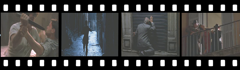 Pellicola del Film La Finestra di Fronte ricordi di Davide in piazza Mattei