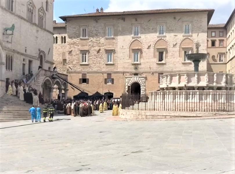 Perugia piazza centrale IV novembre