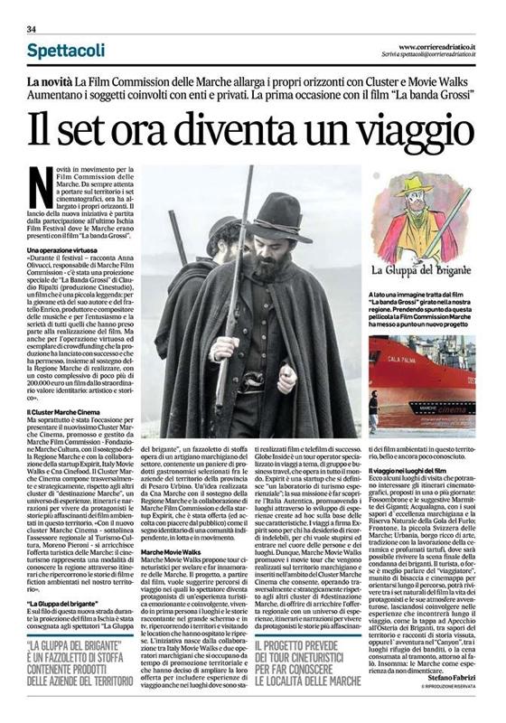 Articolo su Corriere Adriatico